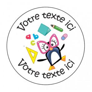 Autocollants Personnalisés | Pingouins Amusants - Stickers de Charivari à l'école.