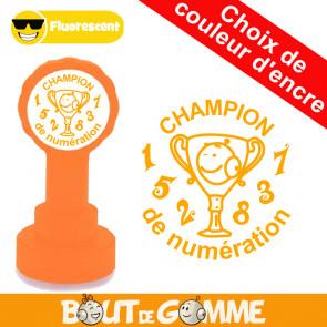 Tampons Auto Encreurs | Champion de numération - Tampons de Bout de Gomme