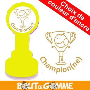Tampons Enseignants | Champion(ne) - Tampons de Bout de Gomme