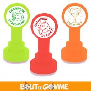 Tampons Encreurs | Champion ! Lot de 3 Tampons Bout de Gomme