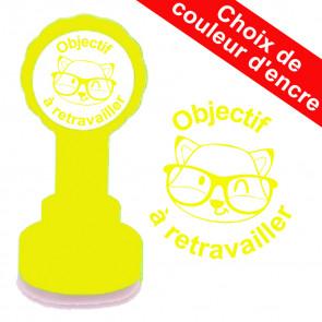 Tampons Auto Encreurs | Objectif à retravailler tampon autoencreur. Choix de couleur d'encre. Tampons de LaMaitresseSev