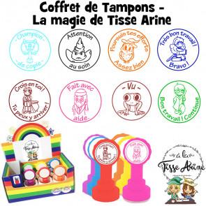 Tampons Enseignants | La Magie de Tisse Arine... Coffret de 6-8 Tampons