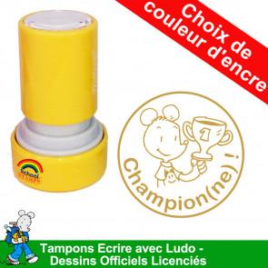 Tampons Ludo | Champion(ne) - Tampon Ecole Auto Encreur