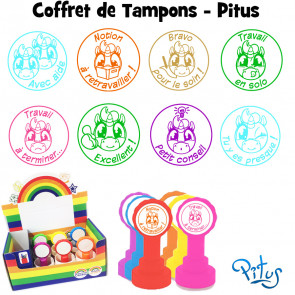 Tampons Enseignants | Coffret Assortiment Tampons-Pitus (Licorne)