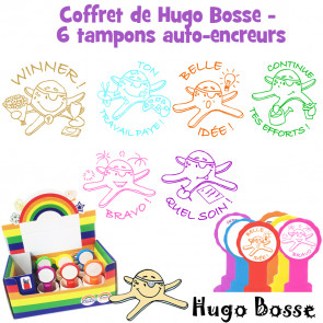 Tampons Enseignants | Coffret de 6 Tampons Encreurs de Hugo Bosse