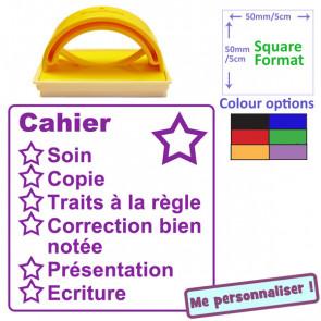 Tampon Encreurs | Cahier Grand Format 5x5cm - Auto-encreur