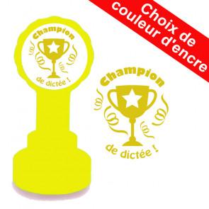 Tampons Encreurs Enseignants | Champion de dictée Trophée.