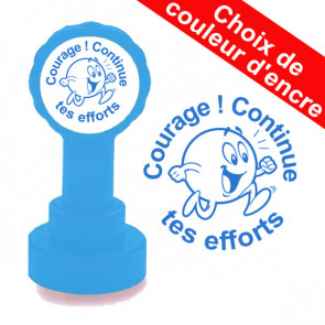Tampon enseignant | Courage ! Continue tes efforts Tampon auto encreur