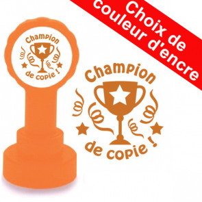 Tampon enseignant | Champion de copie, Bronze Encre