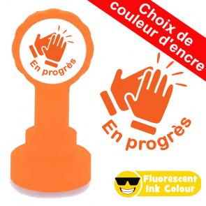 Tampon encreur | En progrès !  Encreur Fluorescent Orange