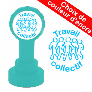 Tampon Encreur | Travail collectif - Couleur: Turquoise