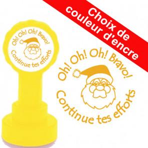 Tampons Encreur Ecole | Oh! Oh! Oh! Bravo, Continue tes efforts - Tampon Encreur Enseignants Noël.