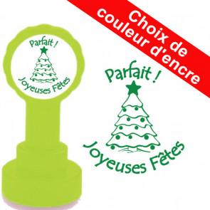 Tampons Encreur Ecole | Parfait ! Joyeuses Fêtes - Tampon Encreur Enseignants Noël