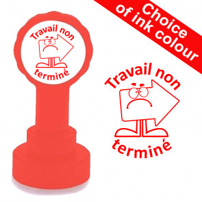 Teacher Stamps | Travail non terminé French Self-inking Stamps