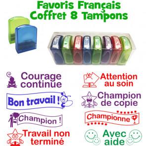 Tampons Enseignant   Tampons de Correction Français pour Enseignants – Coffret de 8 tampons