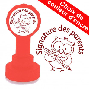 Tampon auto-encreur Enseignants| Signature des parents - Hibou