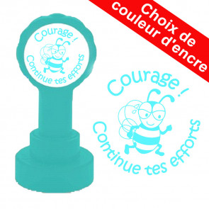 Tampon auto-encreur | Courage ! Continue tes efforts Tampon appréciation scolaire