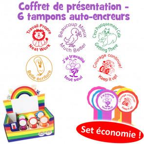 Coffret de tampons modèle 2 pour annotations et messages d'encouragement en Français