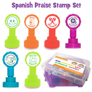 School Stamps | French Language Teacher Stamps - Les mots d'éloge