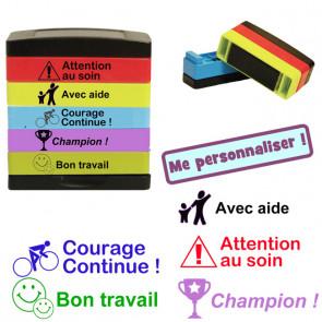 Tampons Auto Encreur | 5-en-1 Multi-Tampons Encreur-5 Étages