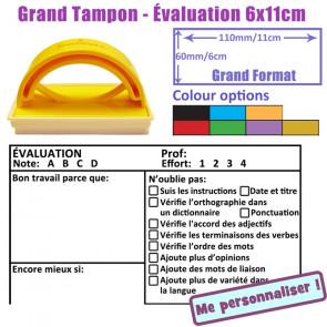 Tampon Enseignants | ÉVALUATION, Note, Effort,  (Bon travail, Encore mieux, 6 x 11cm