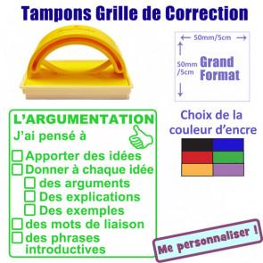 Tampon encreur | Grille de Correction - L'argumentation