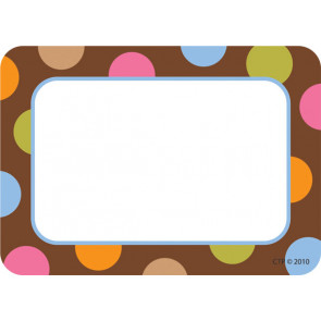 Étiquettes / Badges Autocollants | Motif Chocolat à Pois