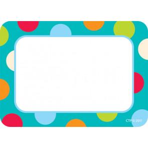 Étiquettes / Badges Autocollants | Motif Turquoise à Pois.