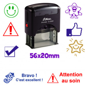 Tampon Encreur Personnalisé | Grand Tampon Enseignant 56x20mm