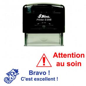 Tampon Personnalisé Enseignant | Grand Tampon Encreur - Shiny S-846