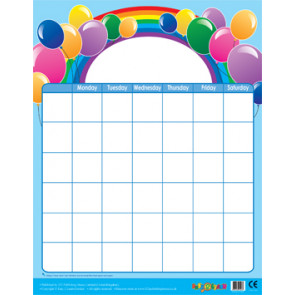 Wall Calendar | Balloons Design Wipe Off Calendar Poster