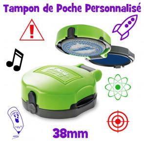 Tampon Encreur Personnalsé | Tampon de Poche-38mm