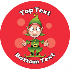 Personalised Stickers for Teachers | Cute Elf Xmas Design to Customise for Kids