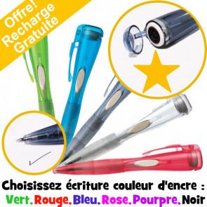 Stylo Marqueur | Etoile Fluorescent Orange - Clix Stylo Bille Avec Tampon Encreur Intégré