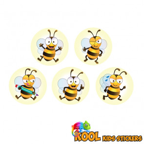 Kool Kids Stickers | 10mm Bee Friends Kool Kids Sticker Designs