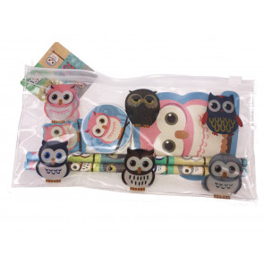Pochette Surprise | Trousse et Ensemble de Papeterie Hibou