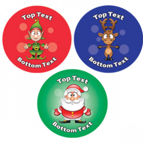Personalised Children's Stickers | Christmas Fun Designs to Customise for Teachers
