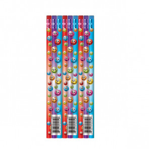 School Class Gifts & Prizes | Pack of 12 Colourful Smile Reward Pencils
