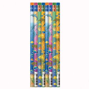 Crayons à Papier Enfants | 12 x Crayons à Papier HB Monde Marin