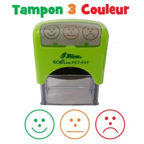 Tampon Auto Encreur Ecole | Auto-évaluation Tricolore à Trois Visages
