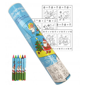 Kids Posters | Christmas Colouring Poster Art Tube Set