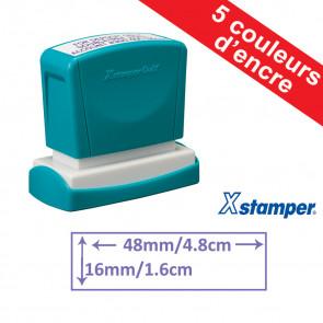 Tampon personnalisable   Xstamper Quix 16x48mm, Auto-encreur
