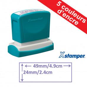 Tampon personnalisable   Xstamper Quix 24 x 49mm, Auto-encreur