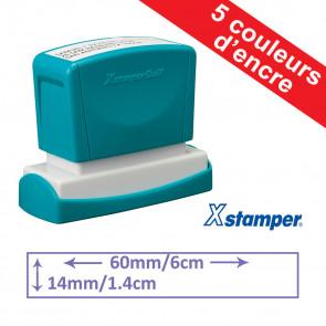 Tampon personnalisable | Xstamper Quix 14x60mm, Auto-encreur, Rechargeable