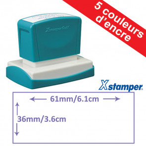 Tampon Personnalisable | Xstamper Quix 36 x 61mm, Auto-encreur