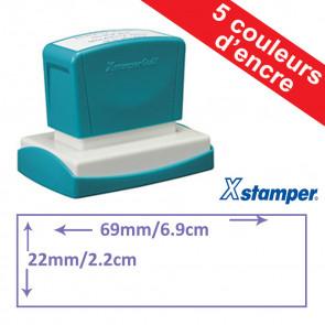 Tampon personnalisable | Xstamper Quix 22 x 69mm, Auto-encreur