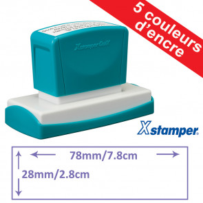 Tampon personnalisable | Xstamper Quix 28 x 78mm