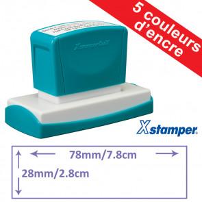 Tampon personnalisable | Xstamper Quix 28 x 78mm