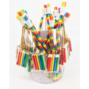 ss Gifts | 6 x Rainbow Pencils with Mini Colouring Pack