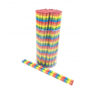 Party Bag Fillers | Rainbow Stripes HB Pencils x 12. Free Delivery